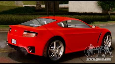 GTA 5 Dewbauchee Rapid GT Coupe [IVF] pour GTA San Andreas sur la vue arrière gauche