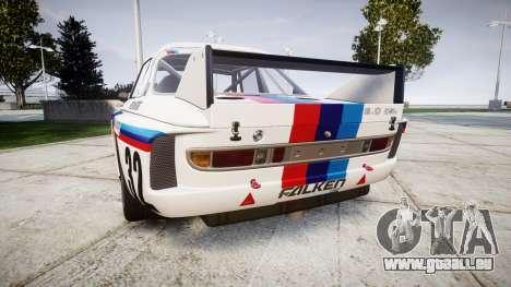 BMW 3.0 CSL Group4 [32] pour GTA 4 Vue arrière de la gauche