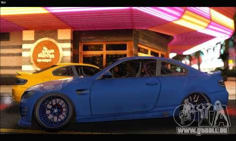 BMW M3 GTS 2010 pour GTA San Andreas laissé vue