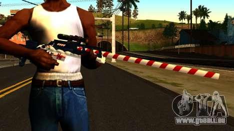 Nouvelle Année Fusil De Sniper pour GTA San Andreas troisième écran