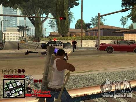 C-HUD Yakuza pour GTA San Andreas quatrième écran