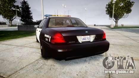 Ford Crown Victoria LAPD [ELS] für GTA 4 hinten links Ansicht