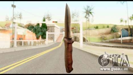 BB Cqcknife from Metal Gear Solid pour GTA San Andreas deuxième écran