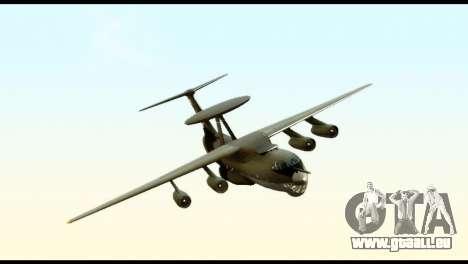 Beriev A-50 Russian Air Force für GTA San Andreas zurück linke Ansicht