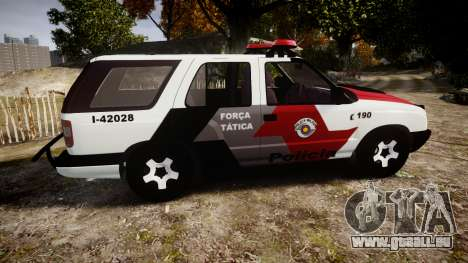Chevrolet Blazer 2010 Tactical Force [ELS] für GTA 4 linke Ansicht