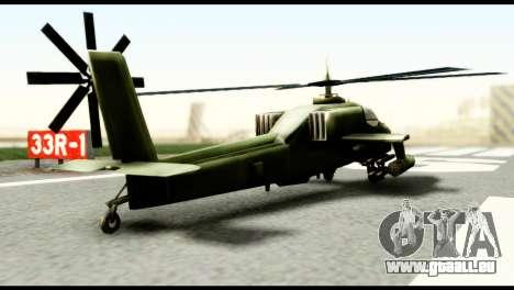 Beta Hunter pour GTA San Andreas sur la vue arrière gauche