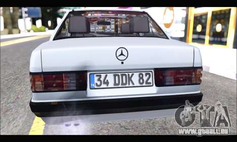 Mercedes Bad-Benz 190E (34 DDK 82) für GTA San Andreas Rückansicht
