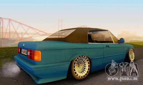 BMW M3 E30 Cabrio pour GTA San Andreas laissé vue