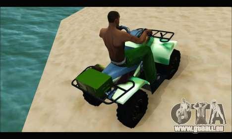 ATV Army Edition pour GTA San Andreas vue de droite