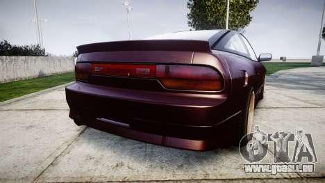 Nissan Silvia S14 Sil80 pour GTA 4 Vue arrière de la gauche