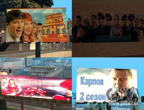 Remplacement de la publicité (bannières) pour GTA San Andreas quatrième écran