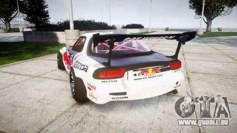 Mazda RX-7 Rocket Bunny MadMake pour GTA 4 Vue arrière de la gauche