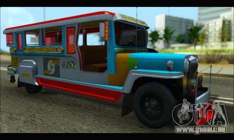 Jeepney Legacy für GTA San Andreas