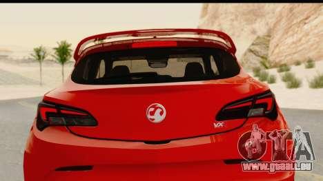 Vauxhall Astra VXR für GTA San Andreas obere Ansicht