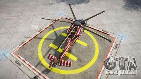 Sikorsky MH-X Silent Hawk [EPM] Freedom pour GTA 4 Vue arrière de la gauche