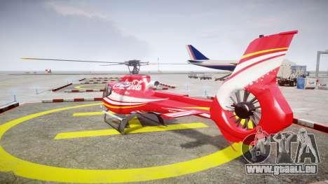 Eurocopter EC130 B4 Coca-Cola pour GTA 4 Vue arrière de la gauche