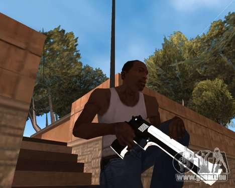 White Chrome Gun Pack pour GTA San Andreas septième écran