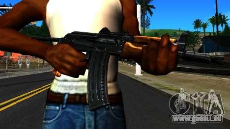Lumineux AKS-74U v1 pour GTA San Andreas troisième écran