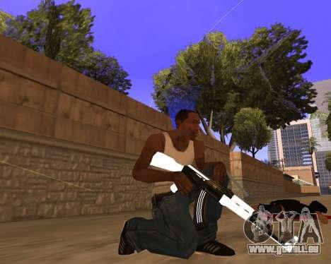 White Chrome Gun Pack für GTA San Andreas