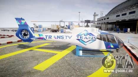 Eurocopter EC130 B4 TRANS TV für GTA 4 linke Ansicht