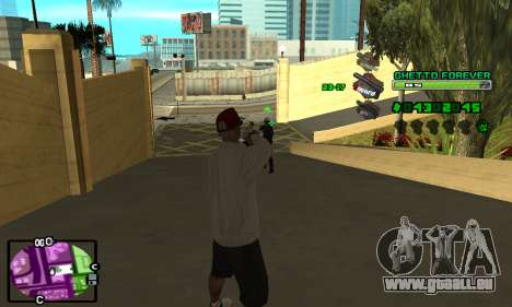 C-HUD Ghetto 4ever für GTA San Andreas zweiten Screenshot