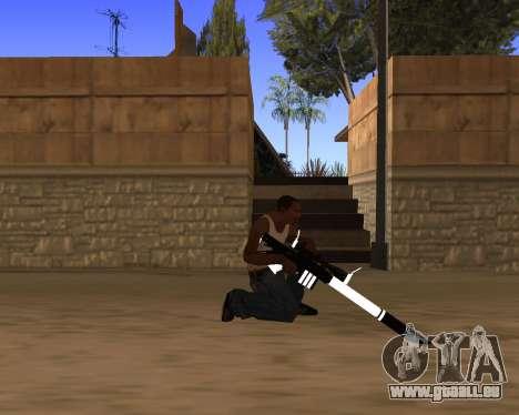 White Chrome Gun Pack pour GTA San Andreas onzième écran