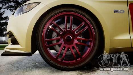 Ford Mustang GT 2015 Custom Kit red stripes für GTA 4 Rückansicht