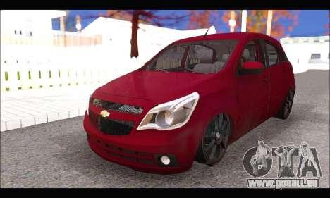 Chevrolet Agile Tunning pour GTA San Andreas vue de droite