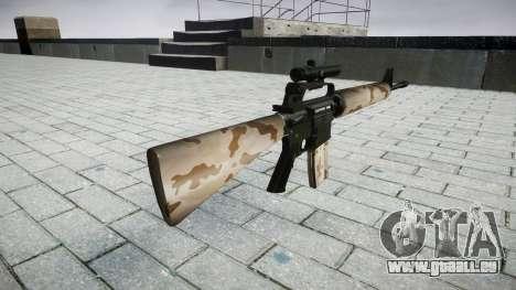 Le M16A2 fusil [optique] sahara pour GTA 4 secondes d'écran