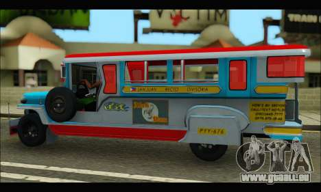 Jeepney Legacy pour GTA San Andreas vue arrière