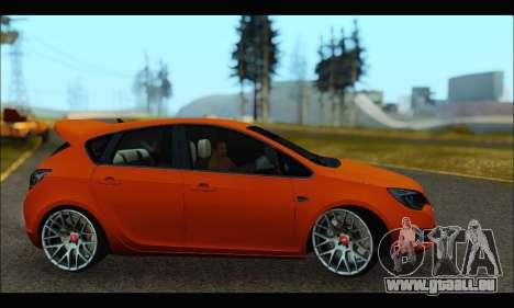 Opel Astra J für GTA San Andreas zurück linke Ansicht