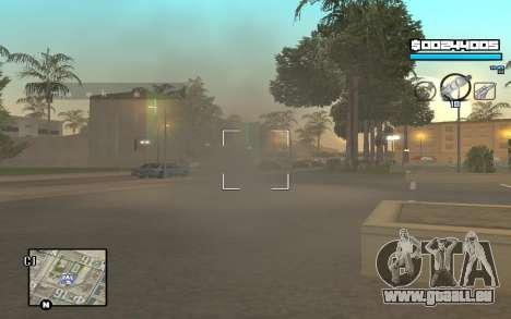 Blue C-HUD für GTA San Andreas her Screenshot