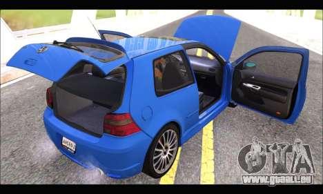 VW Golf R32 - Stock für GTA San Andreas Rückansicht