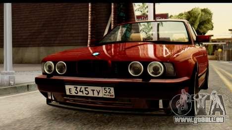 BMW 525i E34 für GTA San Andreas Innenansicht