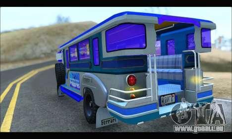 Light Jeepney pour GTA San Andreas vue de droite