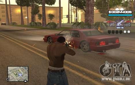 Blue C-HUD für GTA San Andreas zweiten Screenshot