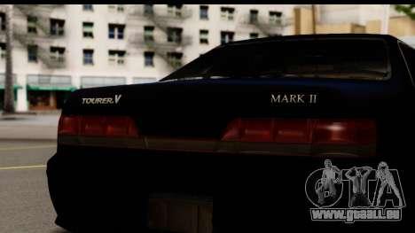 Toyota Mark 2 100 für GTA San Andreas zurück linke Ansicht