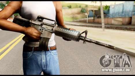 M4 from Metal Gear Solid pour GTA San Andreas troisième écran