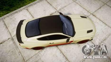 Ford Mustang GT 2015 Custom Kit red stripes für GTA 4 rechte Ansicht