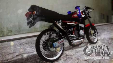 Yamaha RX King pour GTA San Andreas laissé vue