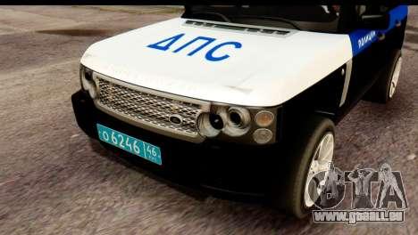 Land Rover ДПС pour GTA San Andreas vue de droite