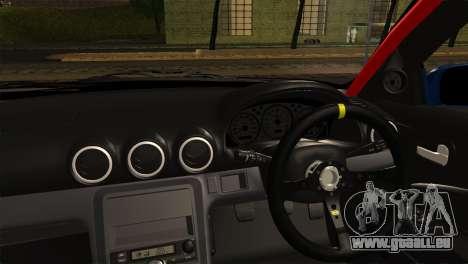 Nissan Silvia S15 DC Hunter für GTA San Andreas zurück linke Ansicht