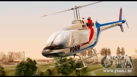 Malaysian Polis Helicopter Eurocopter Squirrel pour GTA San Andreas