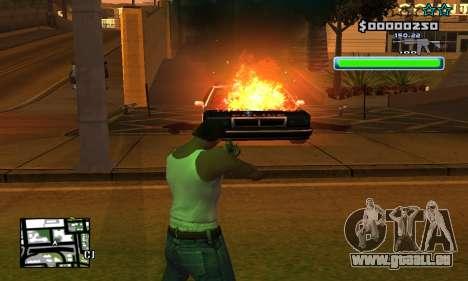 C-HUD Compact pour GTA San Andreas quatrième écran