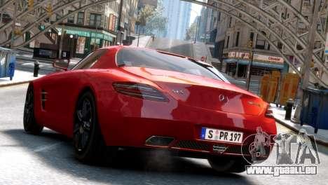 Mercedes-Benz SLS AMG 2011 [EPM] pour GTA 4 Vue arrière de la gauche