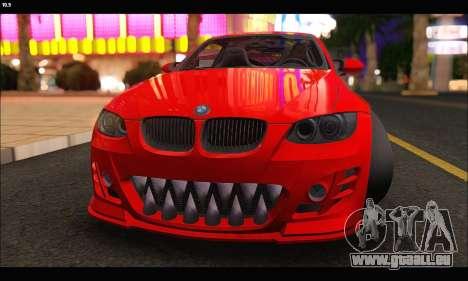 BMW M3 GTS 2010 pour GTA San Andreas vue intérieure