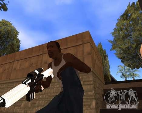White Chrome Gun Pack pour GTA San Andreas neuvième écran