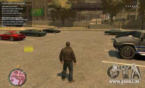 Custom Safehouse and Garage Script v1.1 für GTA 4 Sekunden Bildschirm