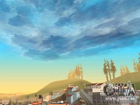 Réaliste ciel pour GTA San Andreas troisième écran