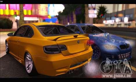 BMW M3 GTS 2010 für GTA San Andreas zurück linke Ansicht